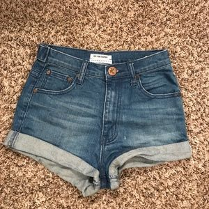 One x one teaspoon jean shorts